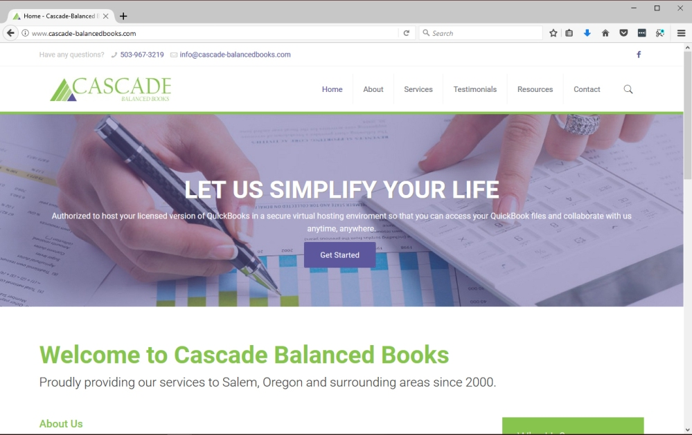 Cascade balanced Books website new